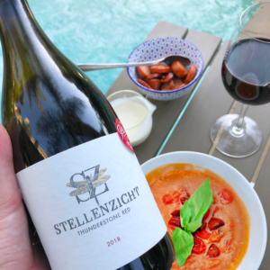 Stellenzicht Wines Thunderstone Red 2018 Paired with Soup